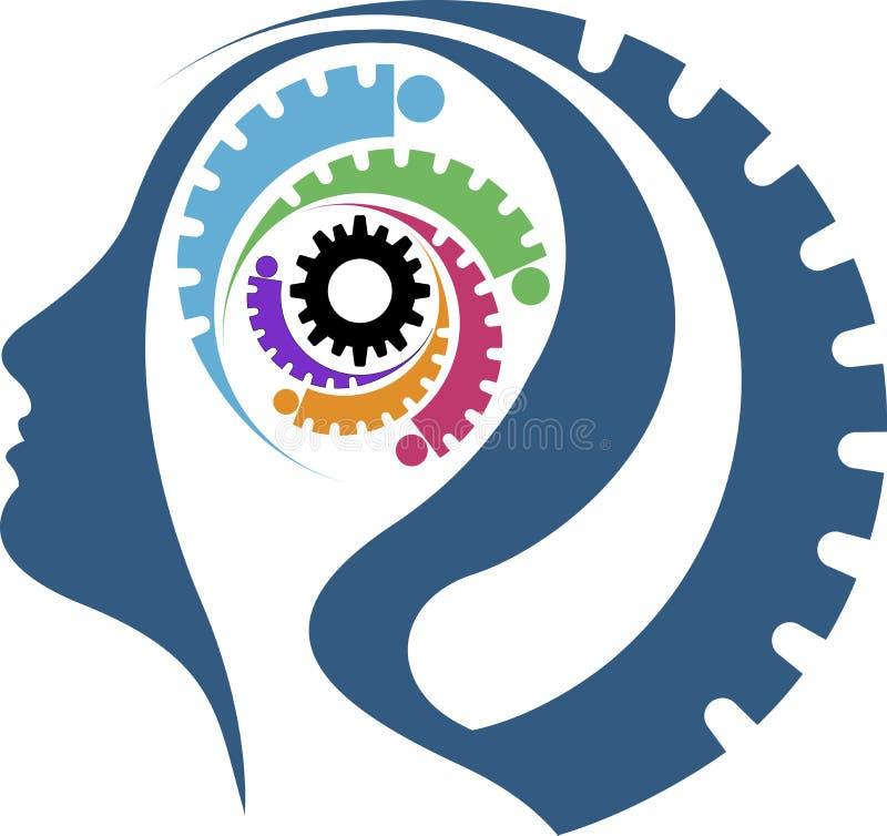 Mind gear stock illustration