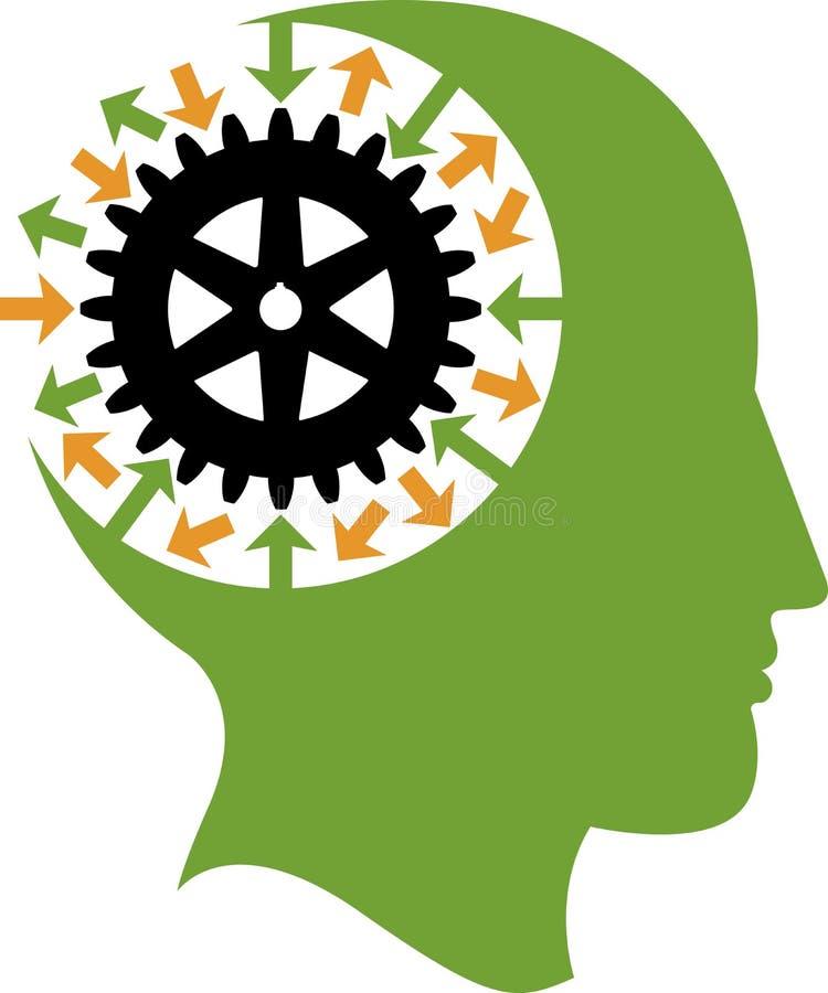 Mind gear logo royalty free illustration