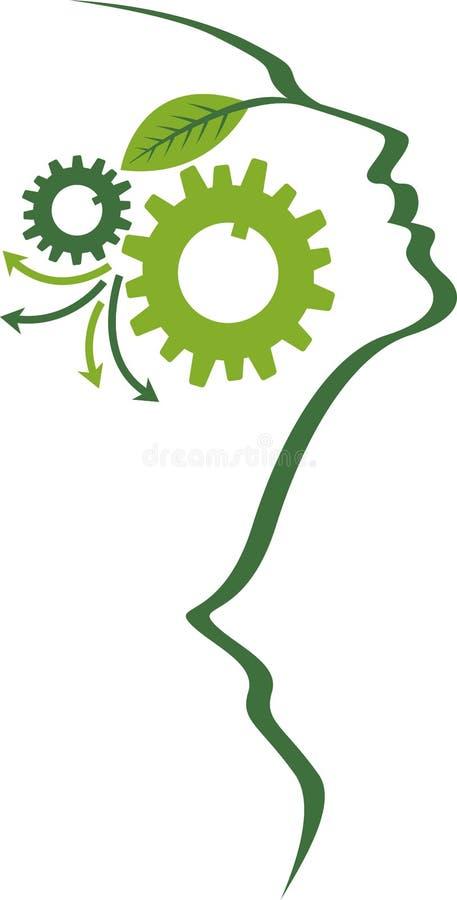 Mind gear logo stock illustration