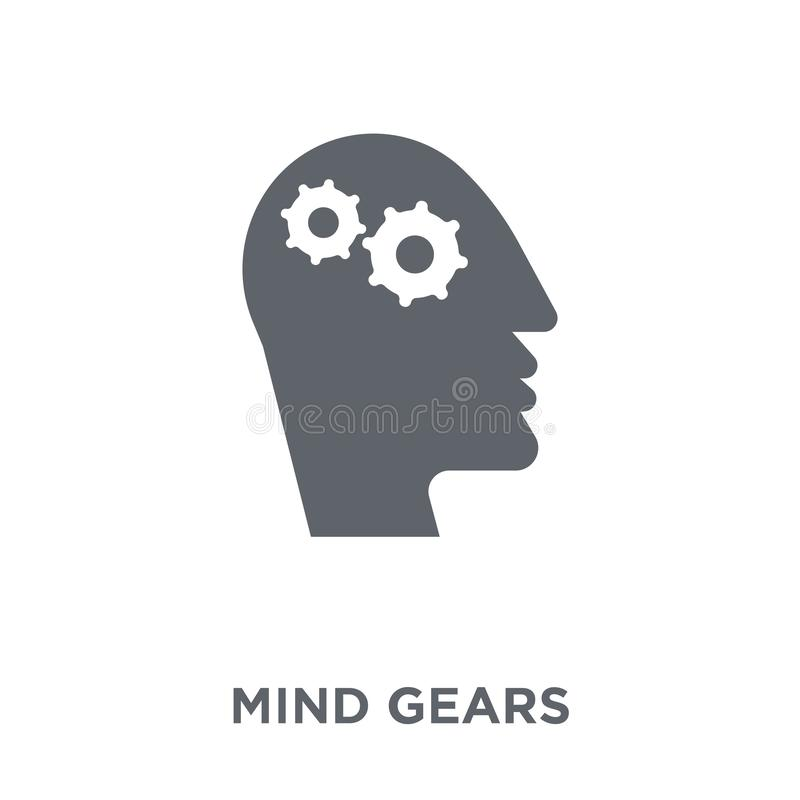 Mind gears icon from Productivity collection. royalty free illustration