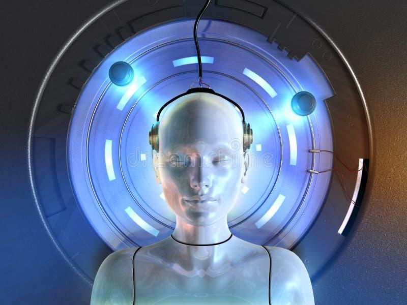 Mind interface vector illustration