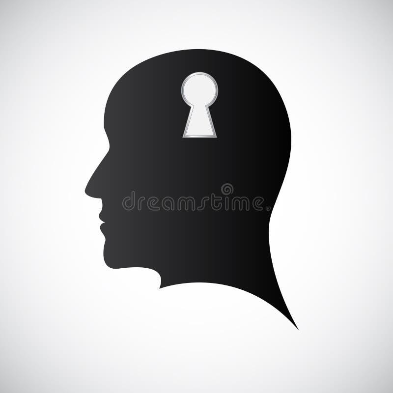Mind keyhole royalty free illustration