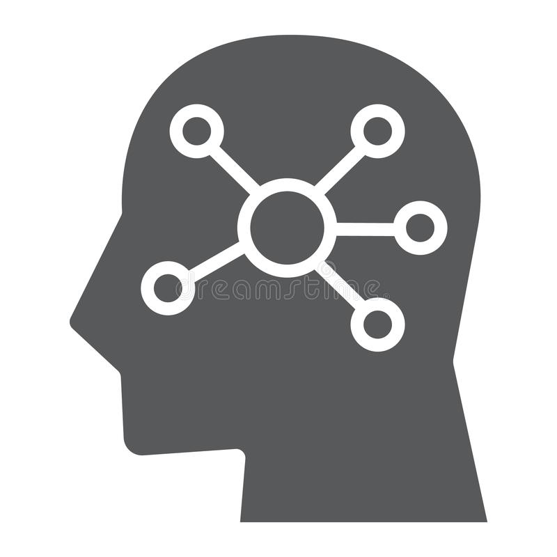 Mind Map glyph icon, data and analytics royalty free illustration