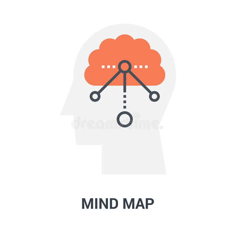 Mind map icon concept. Abstract vector illustration of mind map icon concept royalty free illustration