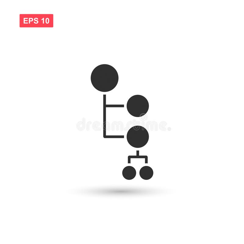 Mind map icon vector isolated 3 royalty free illustration
