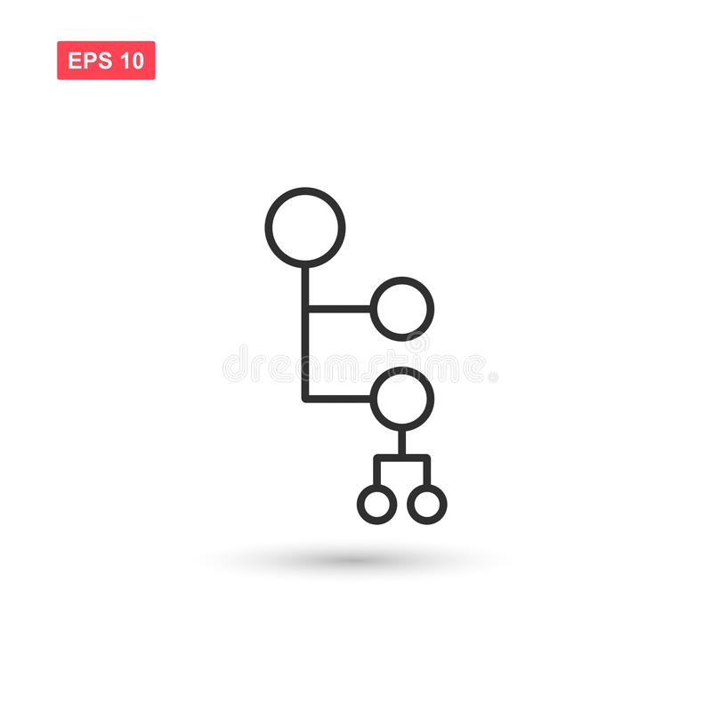 Mind map icon vector isolated 4 royalty free illustration