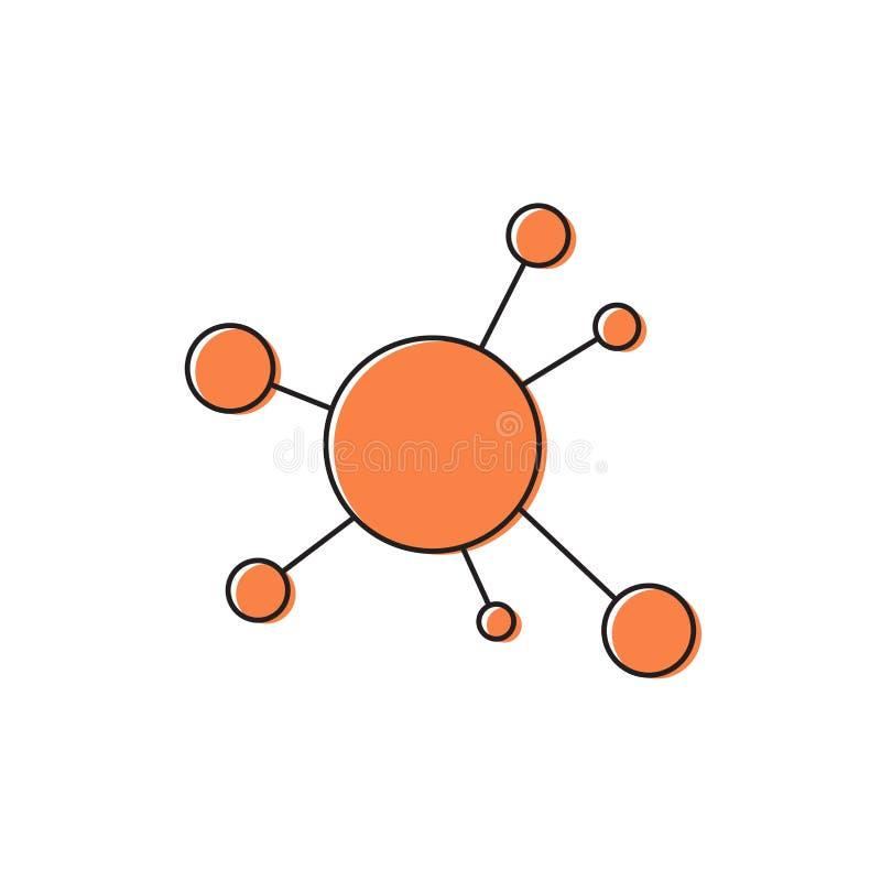 Mind Map vector icon symbol design isolated on white background royalty free illustration