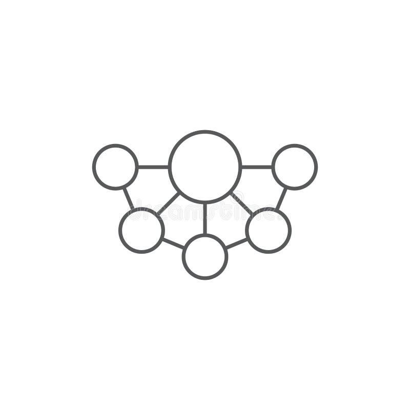 Mind Map vector icon symbol design isolated on white background. Eps10 royalty free illustration