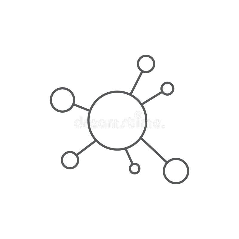 Mind Map vector icon symbol design isolated on white background stock illustration