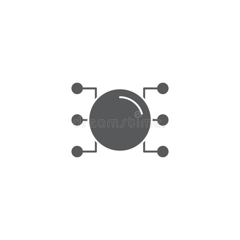 Mind Map vector icon symbol design isolated on white background. Eps10 vector illustration
