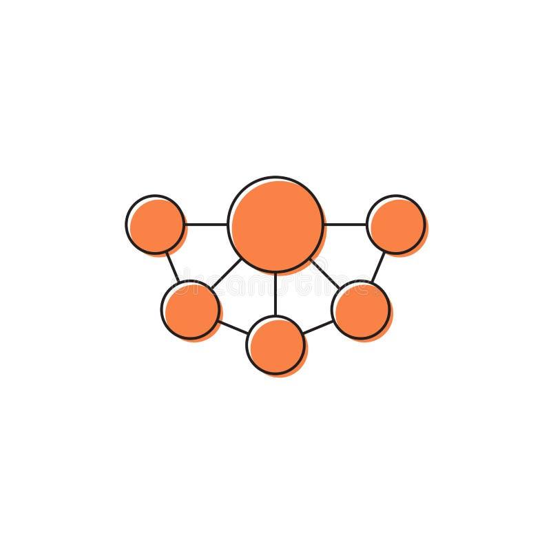 Mind Map vector icon symbol design isolated on white background. Eps10 stock illustration