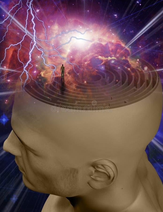 Mind Maze stock illustration