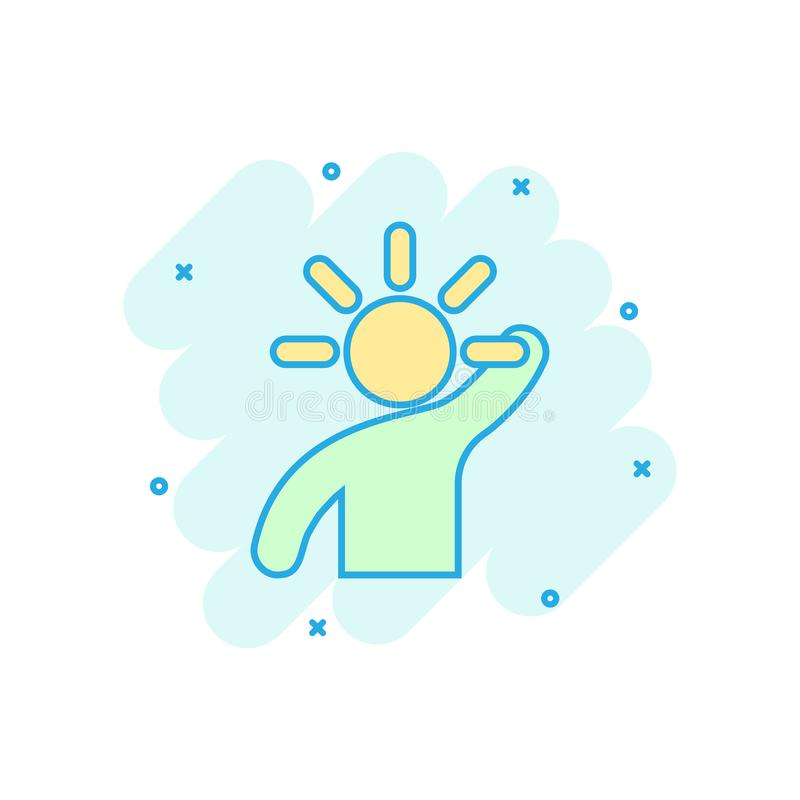 Mind people icon in comic style. Human frustration vector cartoon illustration pictogram. Mind thinking business concept splash stock illustration