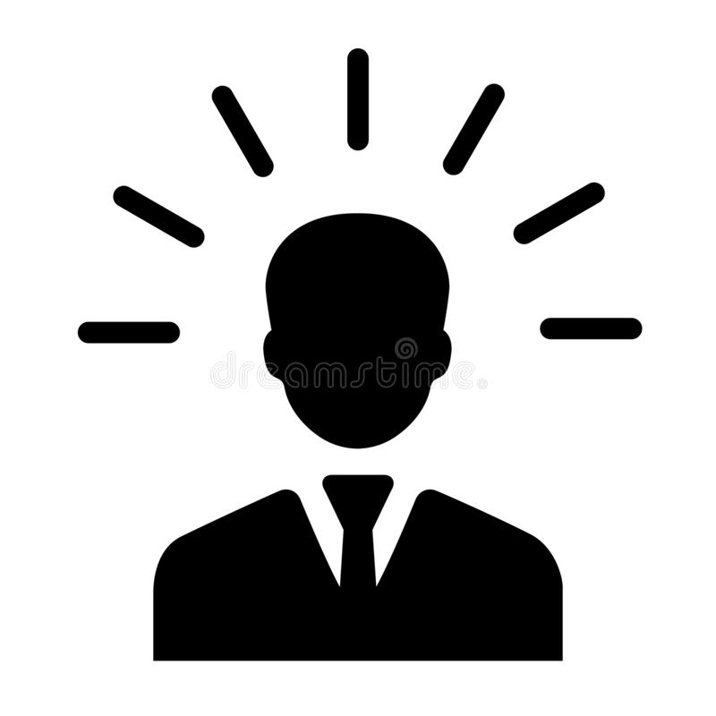 Mind people icon in flat style. Human frustration vector illustration on white isolated background. Mind thinking business concept royalty free illustration