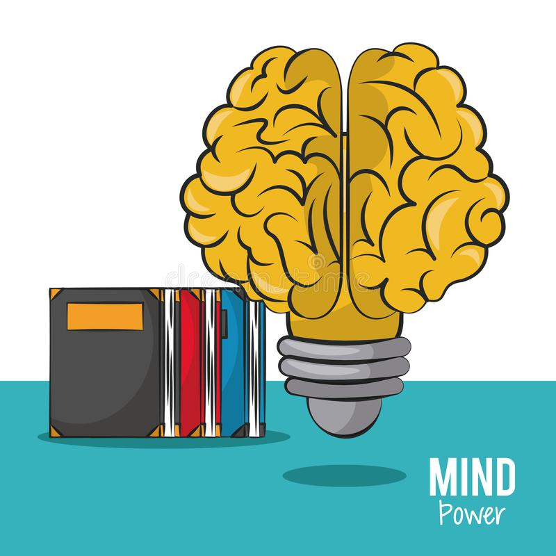 Mind power and brain royalty free illustration