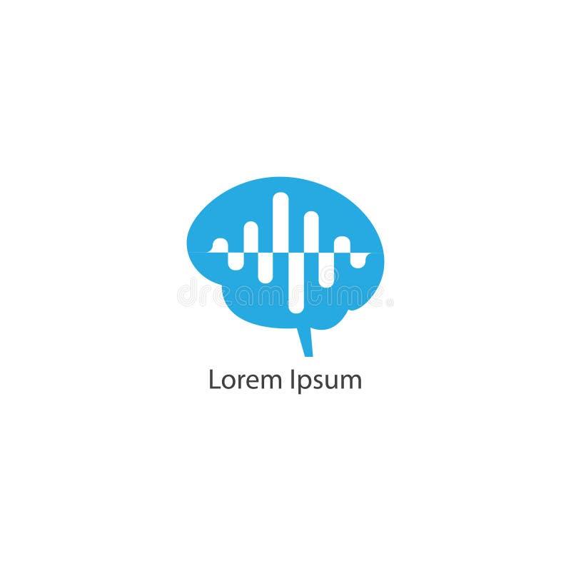Mind Wave Outline Logo Design Template. Colorful Brain