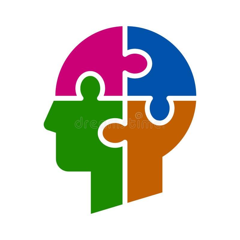 Mind puzzle zigzag royalty free illustration
