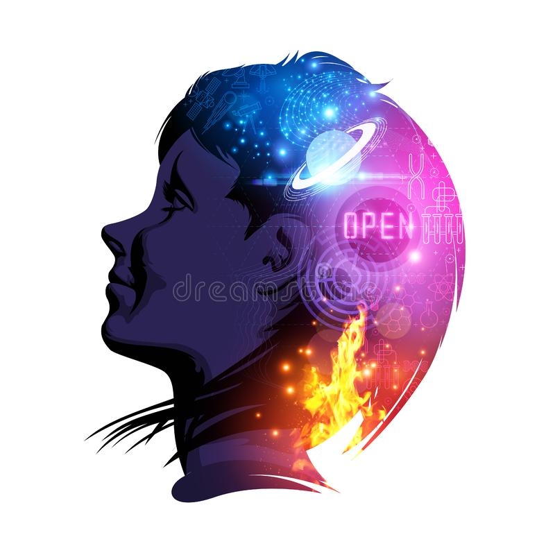 Mind of Science royalty free illustration