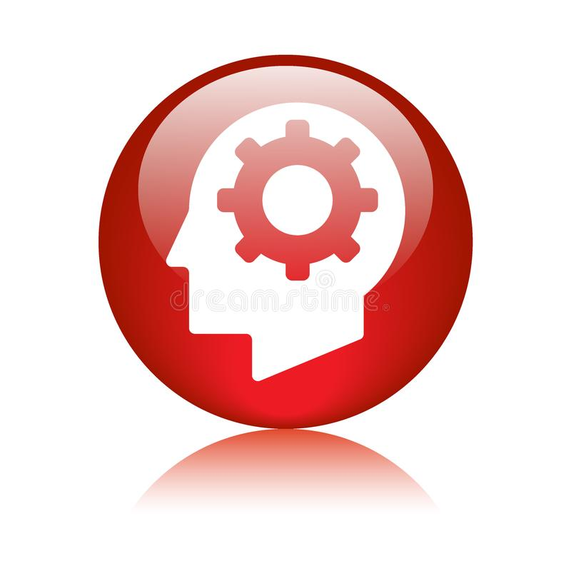 Mind setting gear icon vector illustration