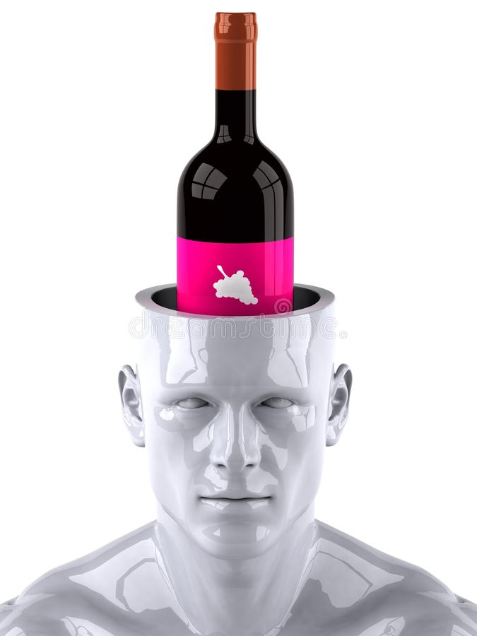 Mind And Wine Stock Photography