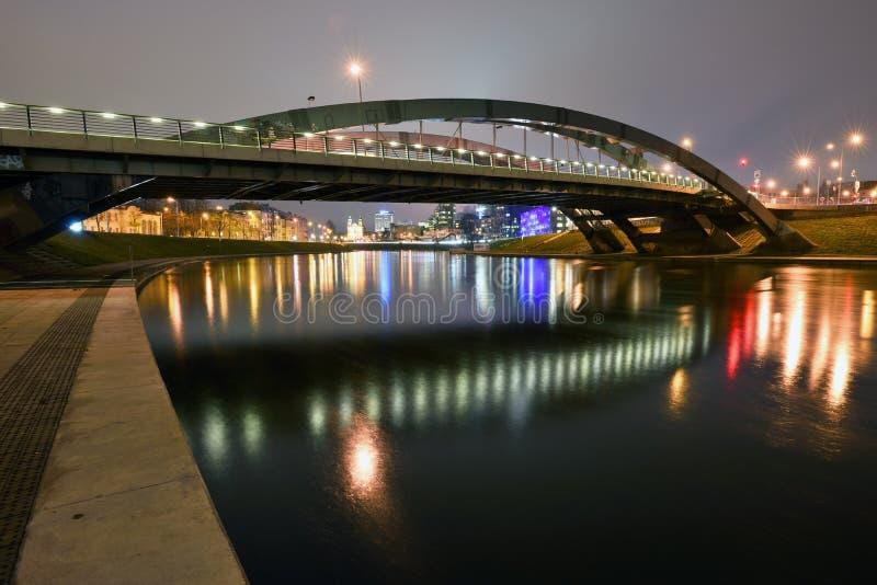Mindaugasbrug, Vilnius royalty-vrije stock afbeeldingen
