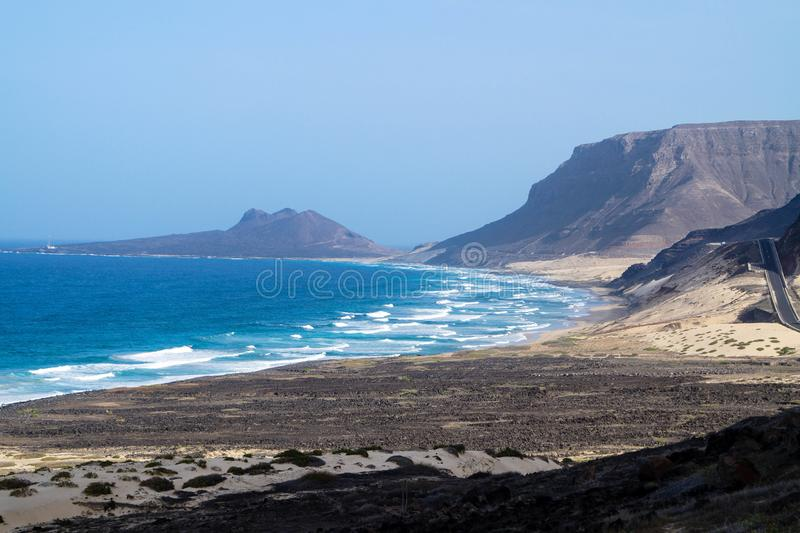 Mindelo - sao Vicente - Cabo Verde imagen de archivo libre de regalías