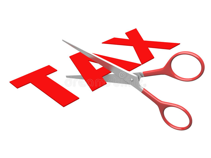 Minder belasting royalty-vrije illustratie