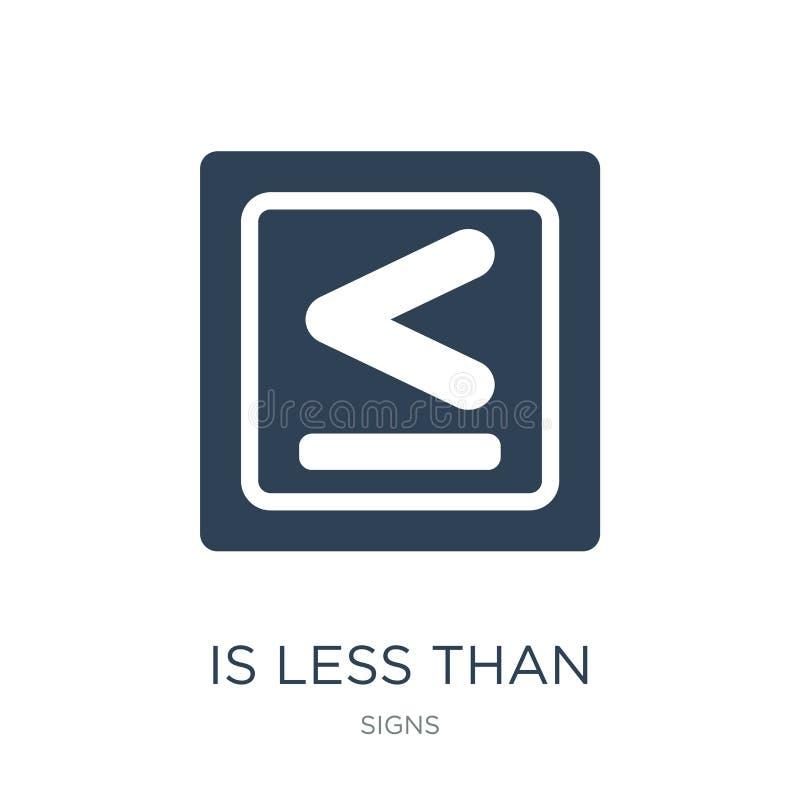 is minder dan pictogram in in ontwerpstijl is minder dan pictogram op witte achtergrond wordt geïsoleerd die is minder dan vector vector illustratie