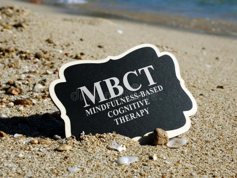 Mindfulness Based Cognitive Therapy MBCT stock image