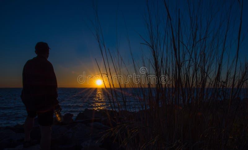Mindfulness côtier image libre de droits