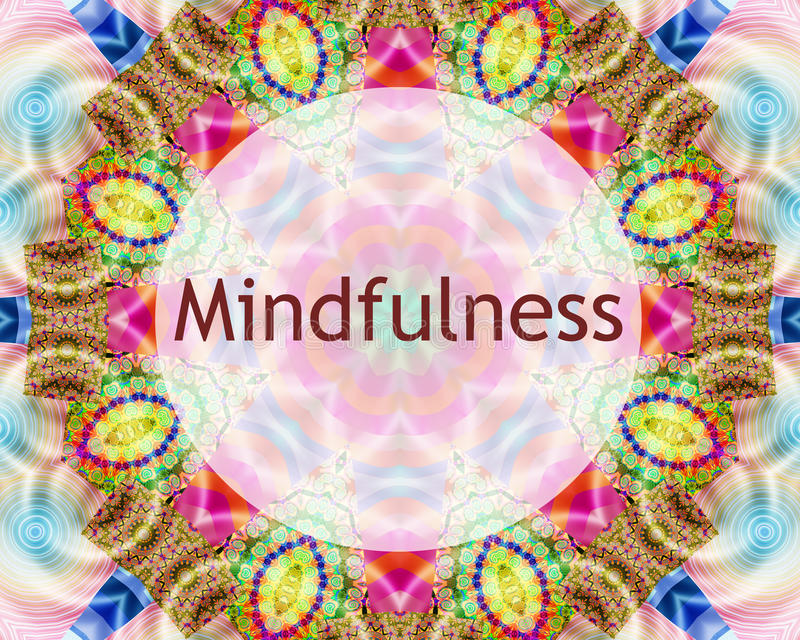 Mindfulness design royalty free stock photo