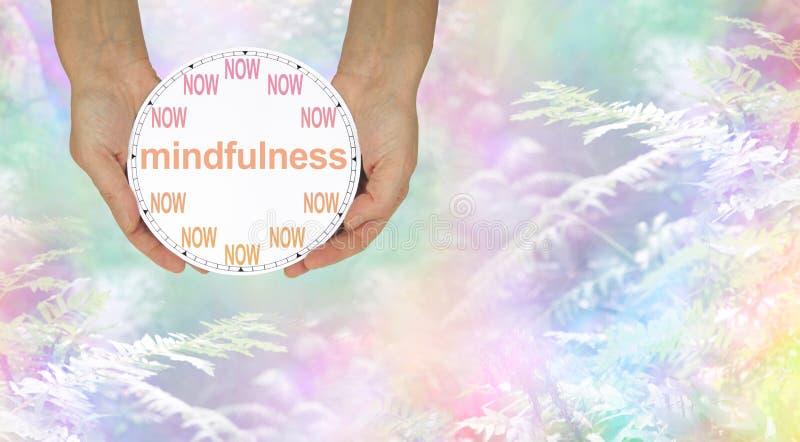 Mindfulness - doe het NOW stock afbeelding