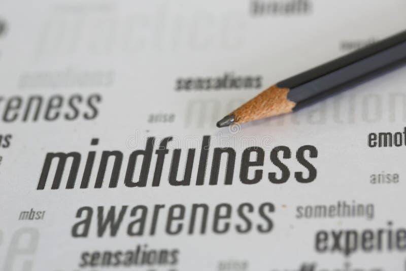 Mindfulness stock image