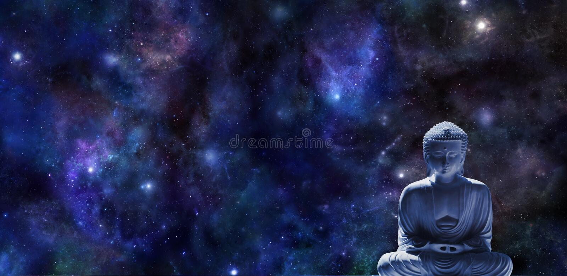 Mindfulness-Meditations-Fahne lizenzfreie stockbilder