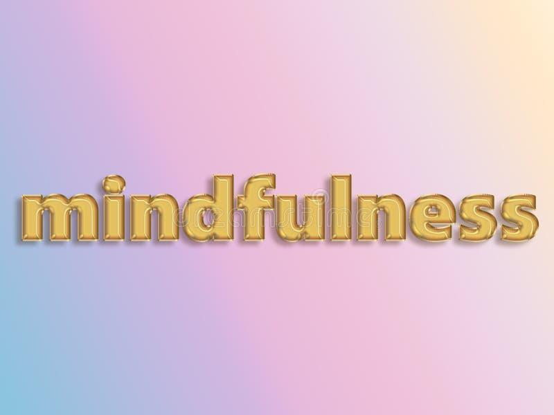 Mindfulness pojęcie używać 3D folii balon ilustracja wektor