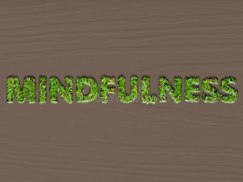 Mindfulness pojęcie używać trawa skutek zdjęcia royalty free