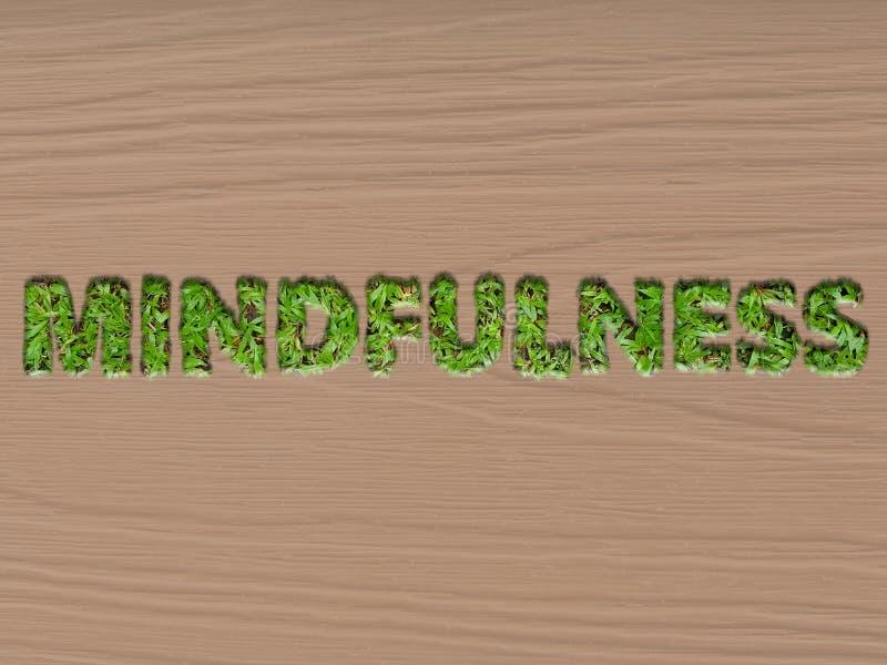 Mindfulness pojęcie używać trawa teksta skutek obrazy stock