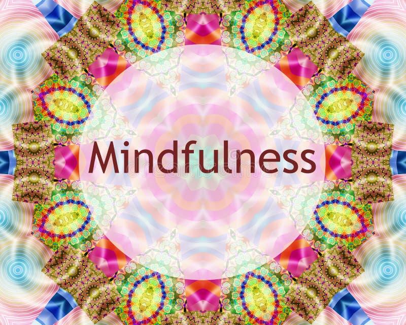 Mindfulness projekt royalty ilustracja
