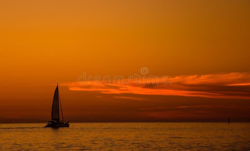 Mindfulness Sailing royalty free stock photos