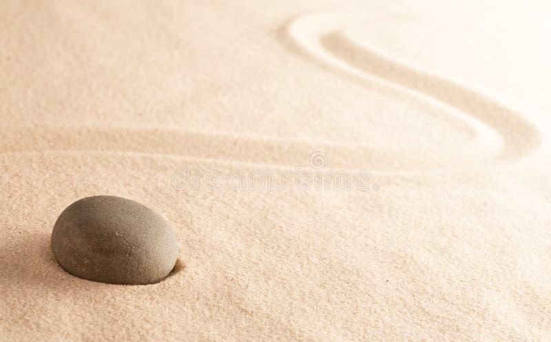 Mindfulness zen meditation stone stock photo