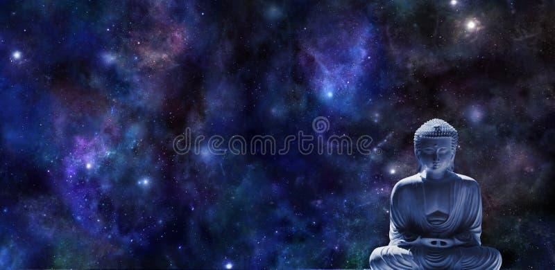 Mindfulnessmeditationbaner royaltyfria bilder
