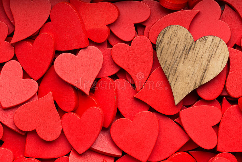 Mindre röd hjärtabakgrund arkivfoton