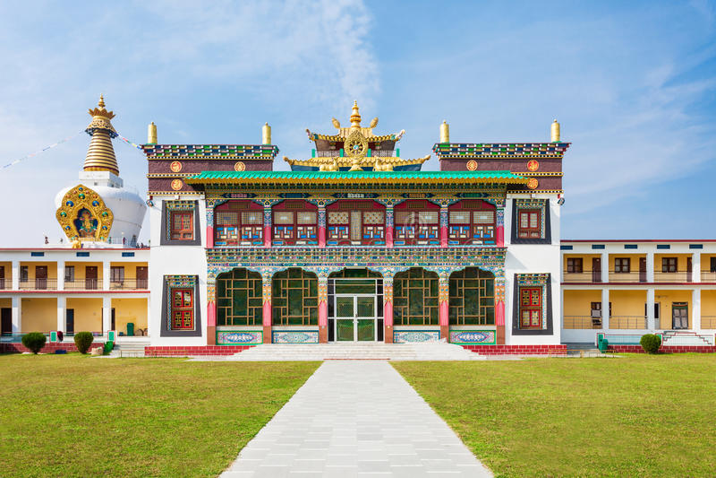 Mindrolling修道院, Dehra Dun 免版税库存照片