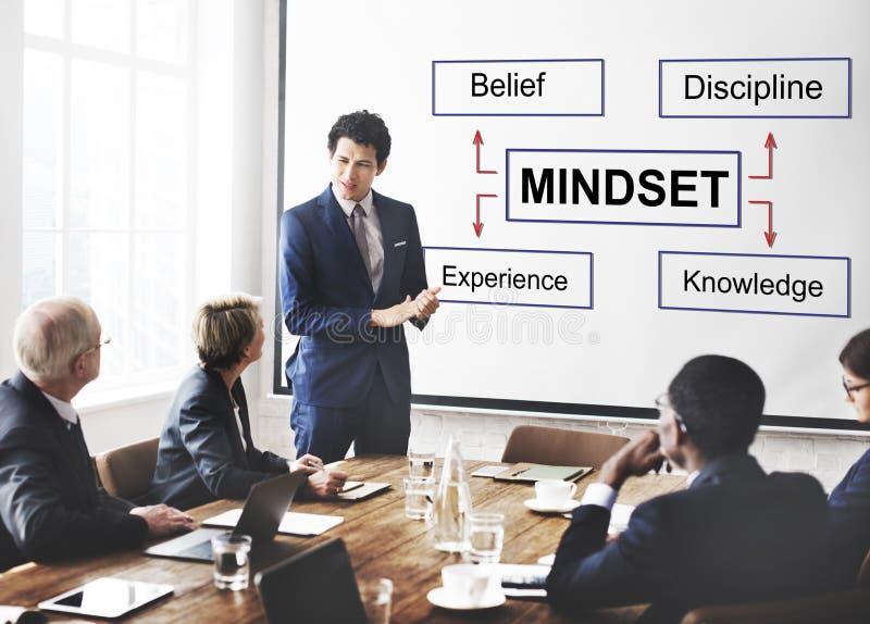 Mindset Belief Discipline Experience Knowledge Concept stock photo