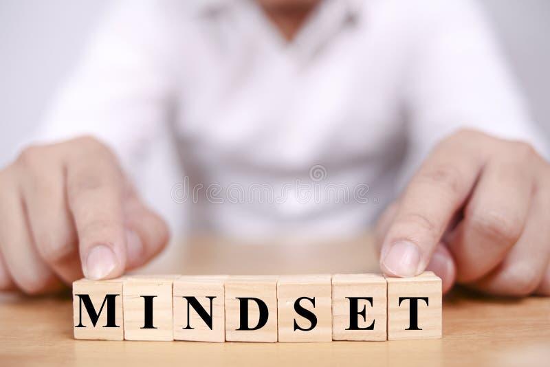Mindset, conceito inspirador das citações das palavras imagem de stock royalty free
