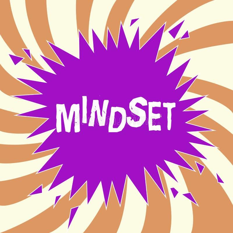 Mindset do texto da escrita O grupo estabelecido significado do conceito de atitudes guardou por alguém a atitude positiva ilustração do vetor