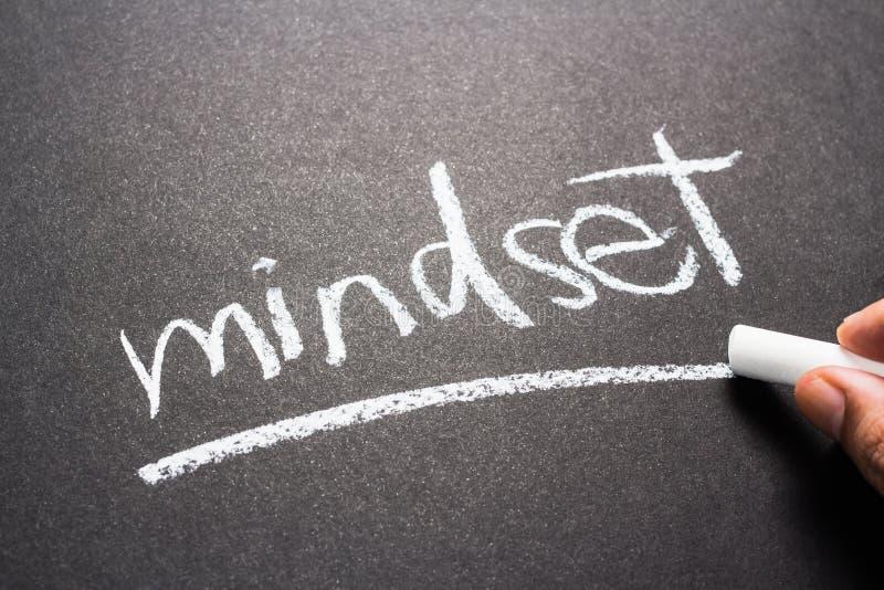 Mindset. Hand writing Mindset topic with chalk stock photography