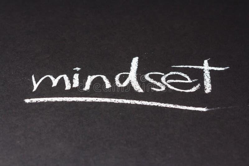 Mindset. Handwriting on chalkboard of Mindset topic stock images