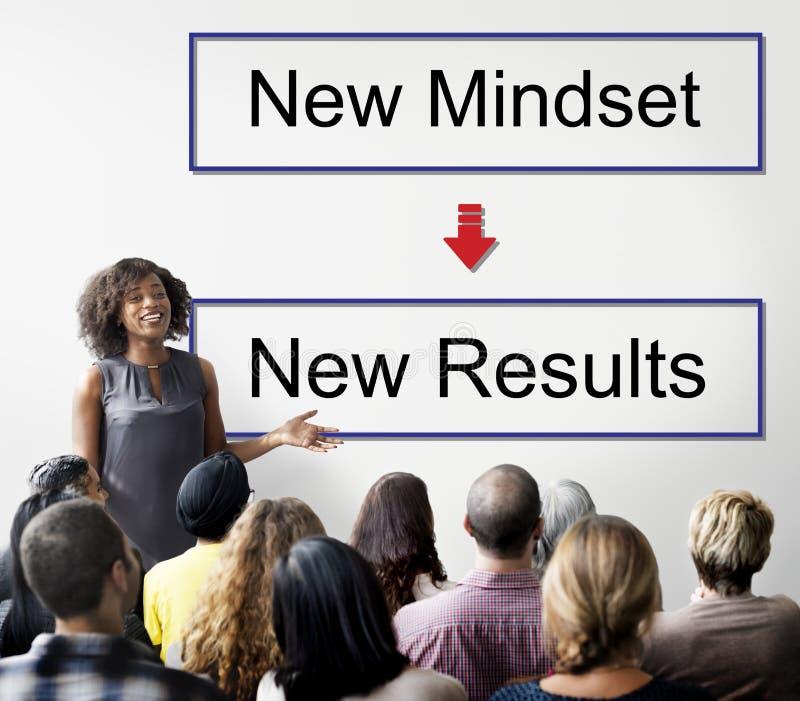 Mindset Naprzeciw Positivity negatywnościa Myślącego pojęcia zdjęcie royalty free