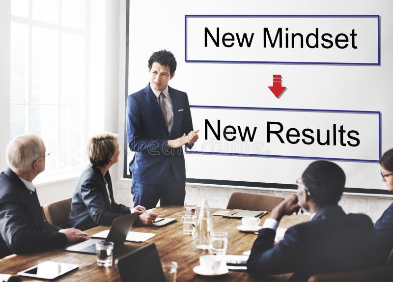 Mindset oposto ao conceito de pensamento da negatividade da positividade fotos de stock